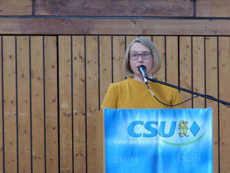 Susanne Hierl geht für den CSU-Kreisverband Neumarkt ins Rennen