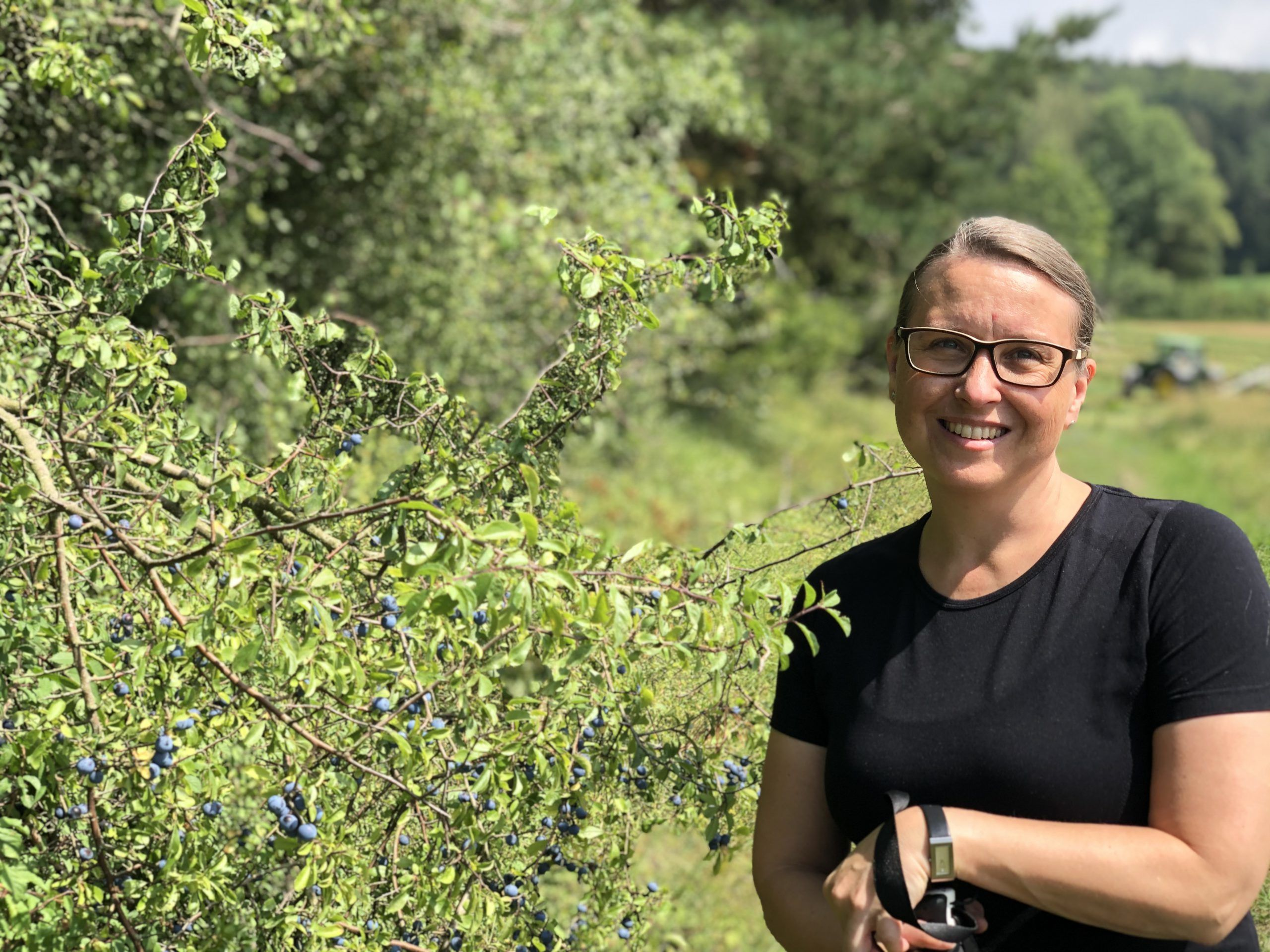 Susanne Hierl bei Wandern in Hilzhofen